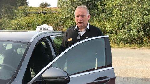BEKYMRET: Leder ved Vestvågøy Taxi, Arne Hansen, mener fylkestinget gir drosjenæringen for kort tid til omstilling i forslag til ny miljøforskrift.