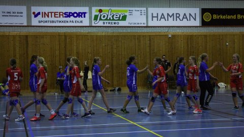 FORELDRE: Styret og trenere i håndballgruppa i Lyngdal IL, består av foreldre til barna som spiller håndball.