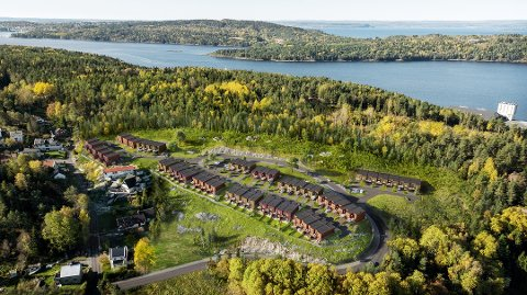 Nytt felt: I åssiden ved Kilsbakken kommer det nye rekkehusfeltet. Illustrasjon Bakke Prosjekt.