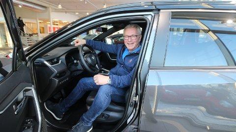 HØY TILLIT: Toyota nyter høy tillit i markedet og salgstallene er gode. – Det inspirerer oss til å bli enda bedre, sier salgssjef ved Toyota Moss, Terje Sunnvoll.