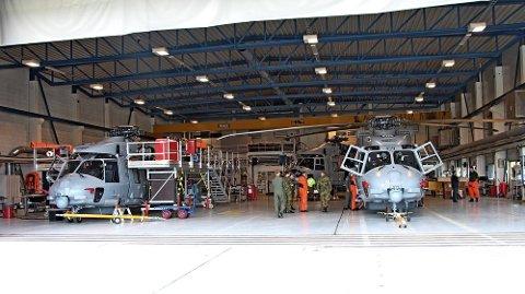BLE SATT PÅ BAKKEN: Forsvarets NH90-helikoptre. Her er noen av dem fotografert på Bardufoss ved en tidligere anledning