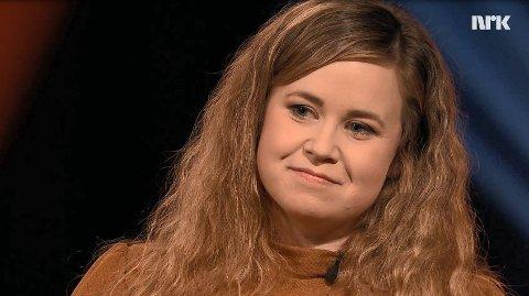 PÅ JOBB: Trine Lynghaug var en av de første på stedet. Foto: NRK