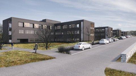 FORSINKET: Sykehuset vil ikke være i drift før i august, to måneder senere enn planlagt. (Foto: Momentum Arkitekter)