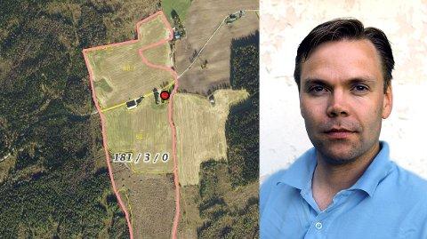 FÅR NEI: Audun Blegen får ikke tillatelse til å overta nabogården Midtbustuen av Vestre Toten kommune