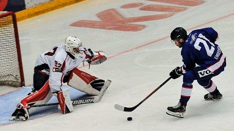 Joachim Engesveen har stått bak 14 av Gjøvik Hockeys mål til nå, i tillegg til 14 assist.