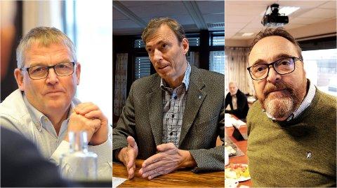 FØLGER NØYE MED: Kommunedirektørene Bjørn Fauchald (til venstre), Magnus Mathisen og Ole Magnus Stensrud følger nøye med, men kan ikke si nå om smitteutbruddet i regionen vil føre til lokale tiltak.