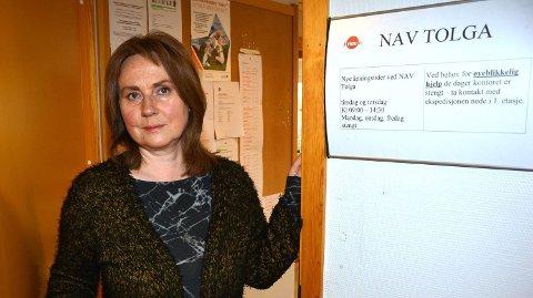 TIDLIGERE NAV-LEDER: Det var daværende NAV-leder Synnøve Narjord som meldte ønsket om vergemål for Tolga-brødrene inn for Fylkesmannen. - Om vi ikke hadde meldt fra, hadde det vært en tjenesteforsømmelse, er hennes vurdering i dag.