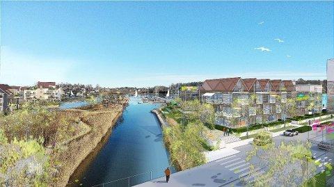 AVLYST: Onsdag 18. mars skulle politikerne i kommunestyret stemme over boligprosjektet Hjemseng Brygge for siste gang.