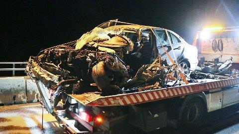 KOLLISJON: 32-åringen var passasjer i denne bilen.