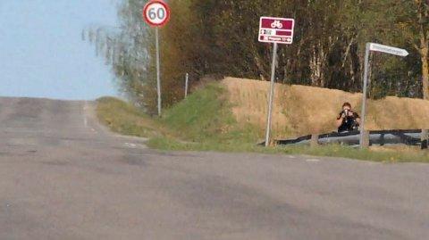 Politiet holdt på nytt kontroll i Åshøgdvegen torsdag.