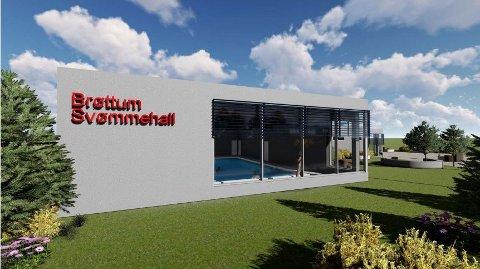 BASSENG: Slik har et nytt basseng på Brøttum blitt skissert.