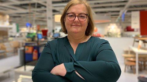 DROPPET PLANENE: Kjempetøft. Det sier Ikea-sjef Clare Rodgers om å droppe nytt varehus i Tromsø.