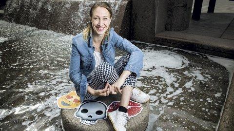 Snapchat: Linn Rosenborg fra Rælingen er en av 11 jenter som er med i SnapKollektivet, og skal snakke om vanskelige temaer. ALLE Foto: Ylva Seiff Berge