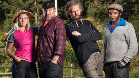 GJERDERUM-KAR: Vidar Helseth (nummer to fra høyre) er opprinnelig fra Kvinesdal, men er bosatt på Gjerdrum.