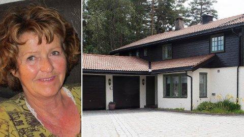 Politiet bekrefter tirsdag interessante funn i huset på Lørenskog. Anne-Elisabeth Hagen forsvant fra bolighuset sitt 31. oktober i fjor. Foto: NTB scanpix