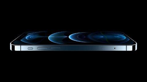 Slik ser nye iPhone 12 Pro ut. Mobilen starter på 13.000 kroner for 128 GB-modellen. 512 GB-modellen koster nærmere 17.000 kroner. Pro Max-modellene koster 1000 kroner mer. Foto: (Apple)