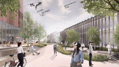 SATSER STORT: IFE skal gjøre den største satsingen på utvidelse og fornyelse siden oppstart i 1948. Slik ser Grape Architects for seg hvordan det vil se ut.