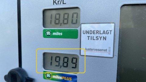 HØYT: Bensinprisen nærmer seg nå nivåer vi aldri har sett tidligere. Foto: Magnus Blaker (Nettavisen)