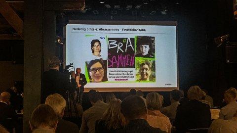 Prosjektet #brasammen fikk hederlig omtale under prisutdelingen i Drammen mandag.