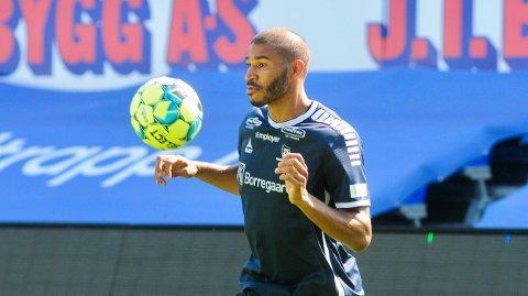 Første trening: Jordan Adéoti hadde tirsdag sin første trening sammen med sine nye lagkamerater.