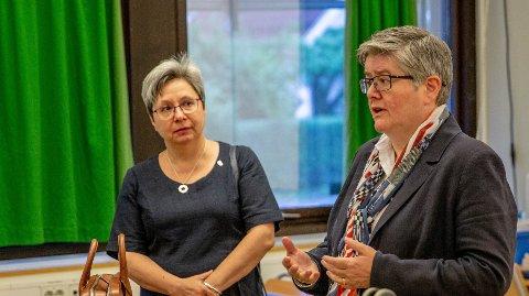 Fylkestingsmedlem Viken Høyre Monica Gåsvatn og Anette Solli Gruppeleder ved fylkestinget for Viken Høyre mener partiet har funnet en løsning på pengeproblemet til oppussing av St. Olav og Fredrik II.