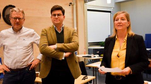 Frustrerte: Høyre-politikerne Espen Volden og Lise Rognerud mener kommunens møtetider er et demokratisk problem. Erik Unaas er enig.