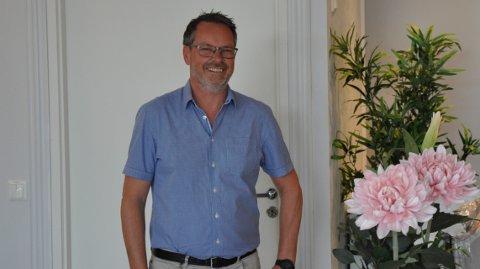 NY SJEF: Andreas Kulvik (49) har nylig overtatt som ny daglig leder for lokalkontoret til Foss & Co eiendomsmegling.