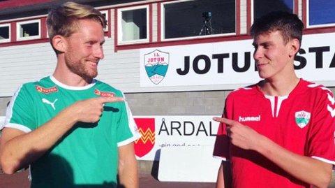 REKORDEN STOD I 12 ÅR: Eivind Øygard, Jølster (t.v) hadde den gamle rekorden for 16-åringar på 1.000-meter. Onsdag overtok August Da Silva Sveen frå Jotun trona.