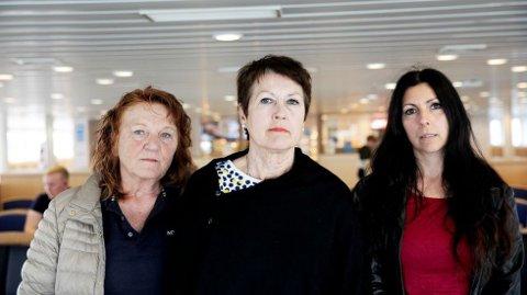 Solveig Fjellstad, Aud Voll og Nina Steinsland får likevel etterlønn når de må slutte å jobbe i Tau-sambandet. (Foto: Tri Nguyen Dinh, Maritim Logg)