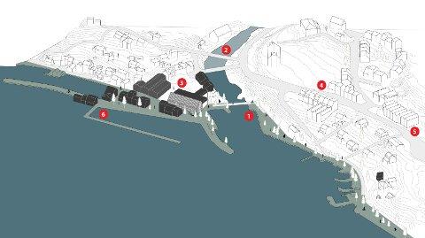 NY BRU: Rådmannen har teke med Mad Arkitektkontor sitt forslag til ny bru mellom Vormedalsvegen og Burmavegen (nummer 2), med gangveg mellom Vågen og Spinneriet under brua. Sentrumsføremål som kultur, handel og rekreasjon skal prioriterast i sjølve Vågen og på Prestagarden rundt kyrkja og Spar-butikken. Rådmannen vil også forlenga strandpromenaden frå Vågen forbi Spahotellet til Sande.