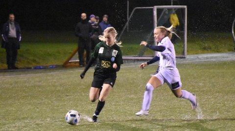 MÅLMASKIN: Maria Fjelde Sel ble matchvinner mot Bryne 1 på søndag. Hun scoret to mål i kampen. (Arkivfoto: Roar Larsen)