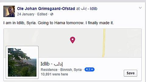 Dette er Facebook-statusen som Grimsgaard-Ofstad la ut den 24 januar i år.