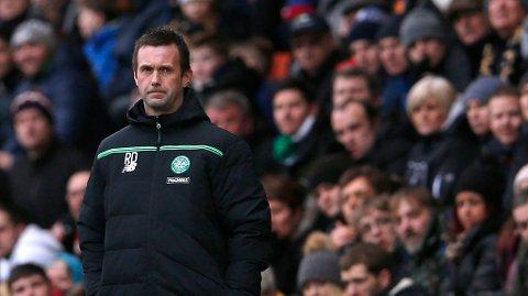 Celtic-manager Ronny Deila sliter med å få arbeidsro i managerstolen. Foto: Lee Smith (Reuters)