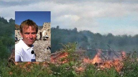 – Jeg har aldri kjent verre varme enn dette før, sier Dag Erik Pedersen om den massive skogbrannen i Portugal. Foto: Privat / arkiv