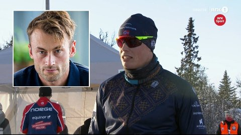 IMPONERT: Petter Northug lar seg imponere av Mikael Gunnulfsen.Foto: (NTB/NRK)