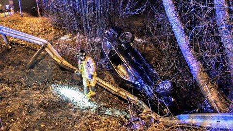 ALVORLIG ULYKKE: Fire unge personer er kjørt til akuttmottaket i Skien.