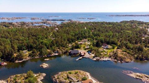 STORT: Skåtøy-eiendommen Nordstrand er på 10,6 mål.