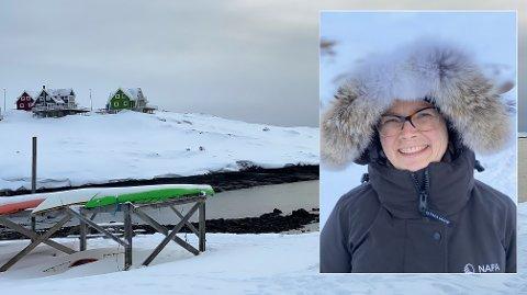 ARKTISK LANDSKAP: I snart ett år har Anne Mette Gangsøy bodd i Grønland, hvor landskapet er mektig og været merkbart. Det har vært en opplevelse.