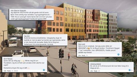 Den første illustrasjonen fra reguleringsforslaget for Campus Kristiansund har skapt både positive og negative reaksjoner blant innbyggerne i Kristiansund.