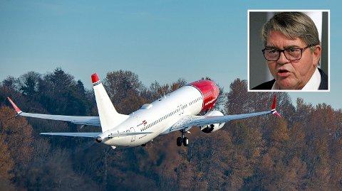 IKKE LIV LAGA: Jan Petter Sissener (innfelt) kan ikke se at det er liv laga for Norwegian i sin nåværende form.
