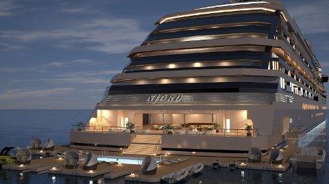 Denne yachten, M/Y «Njord», skal inneholde 118 boliger.