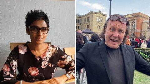 TIDLIGERE VENNER: Ingrid Kruse Fevåg var venn med Svein Østvik tidligere. Nå undrer hun over hva han holder på med.