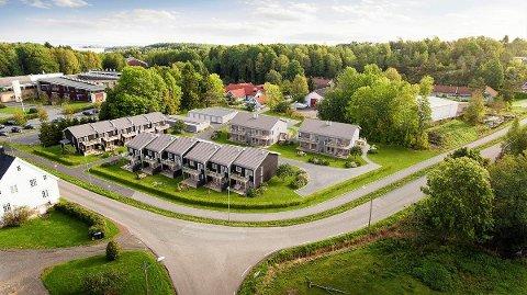 POPULÆRT: 17 av 19 enheter er solgt i Oserød Hageby, som ligger rett ved siden av Oserød skole.