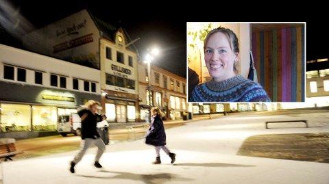 ER TORVET FOR ALLE? Ragnhild Næss er skeptisk til bredbånd på Torvet i Tønsberg.