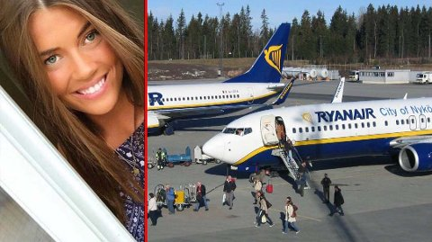 BAGASJE PÅ AVVEIER: Kofferten til Maja Ottersen Miltsov ble rotet vekk da hun fløy med Ryanair. Hun reagerer på hvor vanskelig det er å få flyselskapet i tale i jakten på bagasjen.