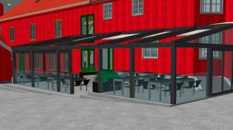 STØRRE: Barkaden ønsker seg en større uteservering som er bygd inn i glass, men fikk ikke gehør for ønsket sitt.
