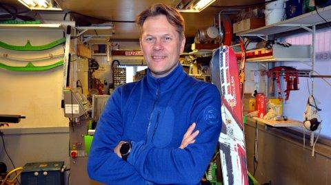 Satser: Styreleder i Fjellkjeden, Lars Christian Stensrud forteller at den nye sportsbutikken på Leira vil ha 5,5 årsverk ved oppstarten.