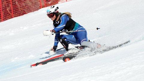 HOLDT AKKURAT: Med 4. plass i avslutningsrennet i Andorra delte Thea Louise Stjernesund totalseieren i storslalåm med Kristine Gjelsten Haugen.