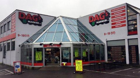 TROR PÅ PLUSSRESULTAT: Dags Marked tror på plussresultat i år, etter flere år med underskudd. Dette er kjedens butikk i Kanalveien i Tønsberg.