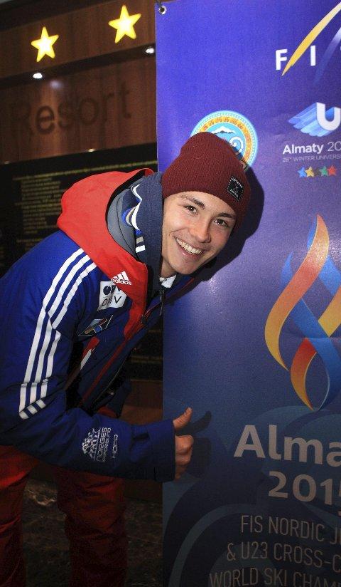 Gullkandidat: I dag hopper Phillip Sjøen for sin første individuelle medalje i junior-VM. For to år siden ble han nummer fire.foto:  Erik Borg